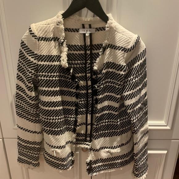 IRO Jackets & Blazers - IRO Tweed black and white fringe jacket